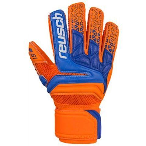 Reusch Goalkeeper Gloves Prisma Prime S1 Finger Support - Shocking Orange/Blue/Shocking Orange Kids Image 6