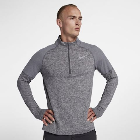 Nike Men's 1/2-Zip Running Top - Grey Image