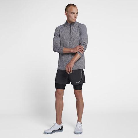 Nike Men's 1/2-Zip Running Top - Grey Image 4