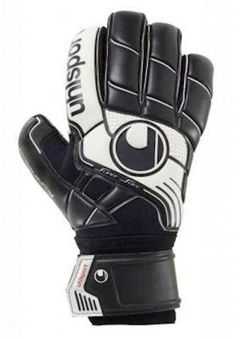 Uhlsport Goalkeeper Gloves Pro Comfort Textile - Black/White Image 2