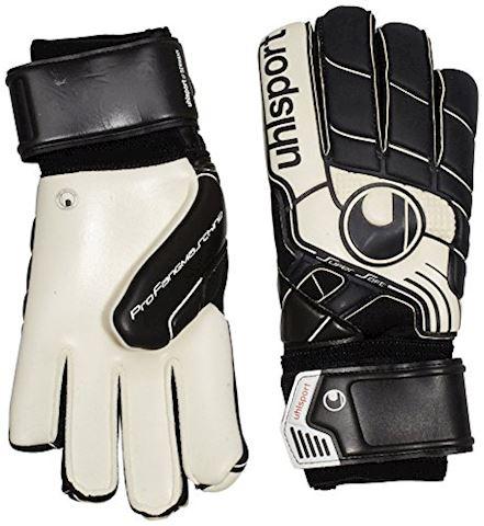 Uhlsport Goalkeeper Gloves Pro Comfort Textile - Black/White Image 4