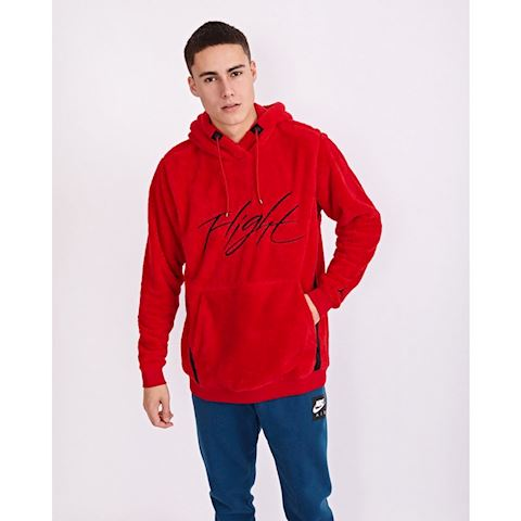 a05611744038 Nike Jordan Sportswear Wings of Flight Men s Sherpa Pullover Hoodie - Red  Image