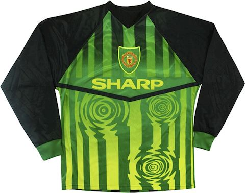 Umbro Manchester United Kids LS Goalkeeper Home Shirt 1997/98 Image