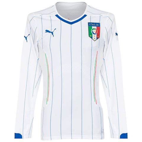 Puma Italy Mens LS Player Issue Away Shirt 2014