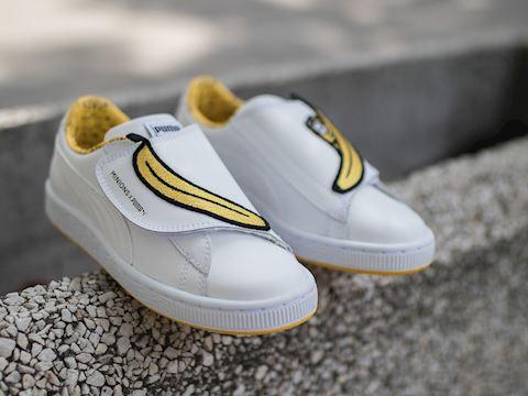 Puma Minions Basket Wrap Statement Leather Kids Trainers Image