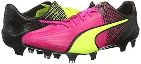 Puma evoSPEED II SL Leather Tricks FG Pink Glo Safety Yellow Black Image 5