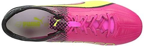 Puma evoSPEED II SL Leather Tricks FG Pink Glo Safety Yellow Black Image 8