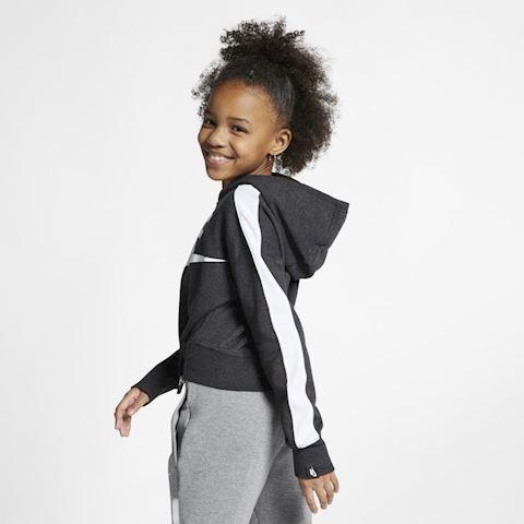 Nike Air Older Kids' (Girls') Cropped Hoodie - Black Image 3