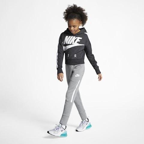 Nike Air Older Kids' (Girls') Cropped Hoodie - Black Image 4