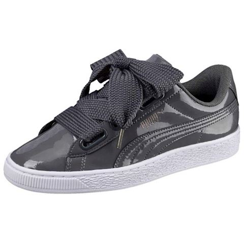 Puma WN BASKET HEART PATENT.IRO women's Shoes (Trainers) in Grey