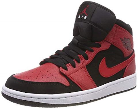 Nike Air Jordan 1 Mid Men's Shoe - Black Image