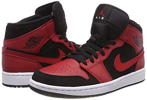 Nike Air Jordan 1 Mid Men's Shoe - Black Image 5