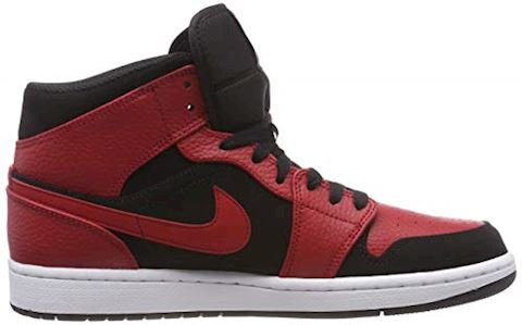 Nike Air Jordan 1 Mid Men's Shoe - Black Image 6