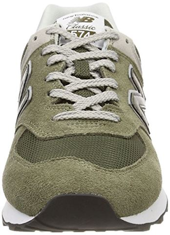 New Balance  ML574  women's Shoes (Trainers) in Green Image 4