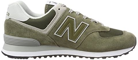New Balance  ML574  women's Shoes (Trainers) in Green Image 6
