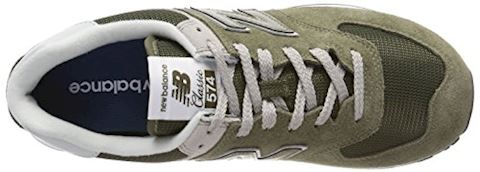 New Balance  ML574  women's Shoes (Trainers) in Green Image 7