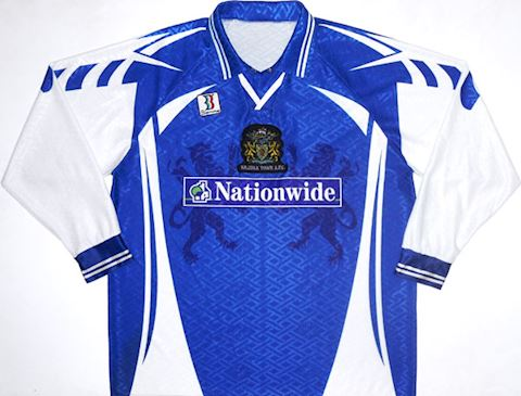 F.C. Halifax Town Mens LS Home Shirt 1998/99 Image 2