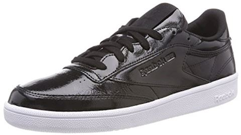 Reebok Classic  CLUB C 85 PATENT  women's Shoes (Trainers) in Black Image