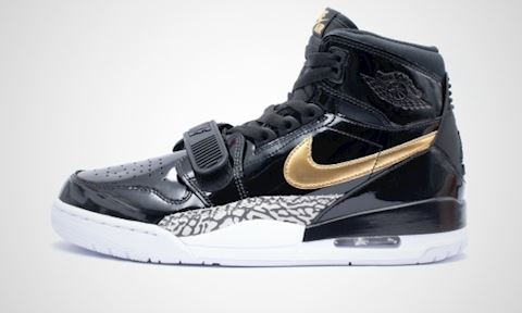 121f9e18058456 Nike Air Jordan Legacy 312 Black  Metallic Gold  White Image