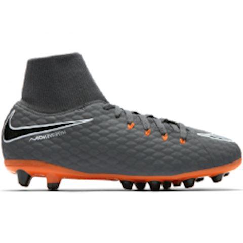 Nike Jr. Hypervenom Phantom III Academy Dynamic Fit AG-PRO Younger/Older Kids'Artificial-Grass Football Boot - Grey Image