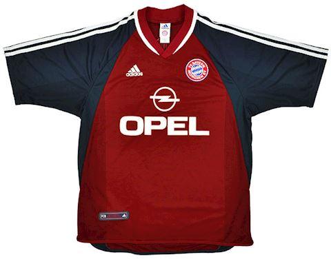 adidas Bayern Munich Mens SS Home Shirt 2001/02 Image