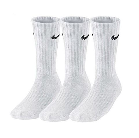 Nike Value Cotton Crew Socks (3 Pair) - White Image