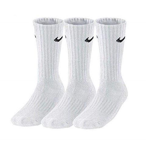 Nike Value Cotton Crew Socks (3 Pair) - White Image 5
