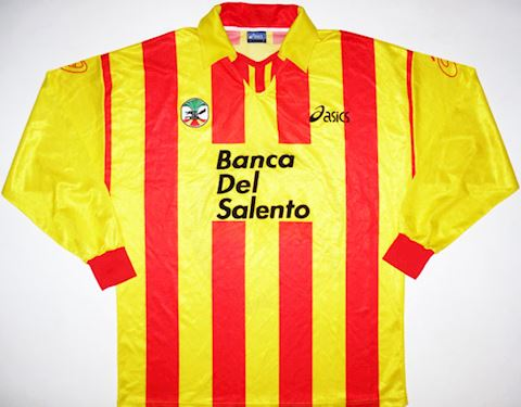 Asics Lecce Mens LS Home Shirt 1998/99 Image