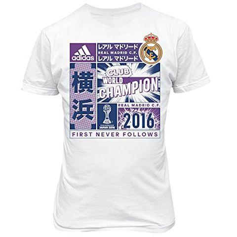 adidas Real Madrid Fifa Club World Cup Champions 2016 T-Shirt - White - Kids, White Image