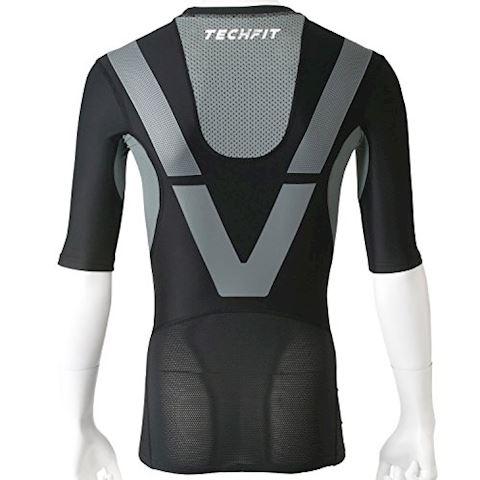 adidas TechFit Power SS Black Vista Grey