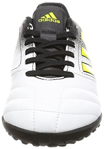 adidas Kids Ace 17.4 TF White Solar Yellow Core Black Image 4