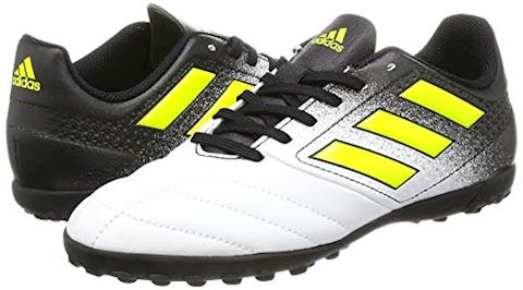 adidas Kids Ace 17.4 TF White Solar Yellow Core Black Image 5