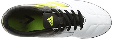 adidas Kids Ace 17.4 TF White Solar Yellow Core Black Image 7