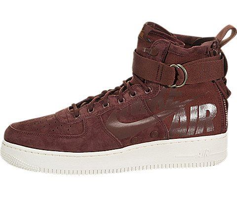 Nike SF Air Force 1 Mid Men's Shoe - Red Image