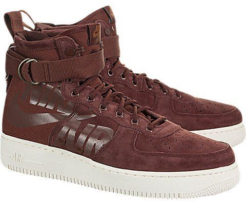 Nike SF Air Force 1 Mid Men's Shoe - Red Image 2