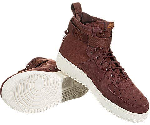 Nike SF Air Force 1 Mid Men's Shoe - Red Image 3