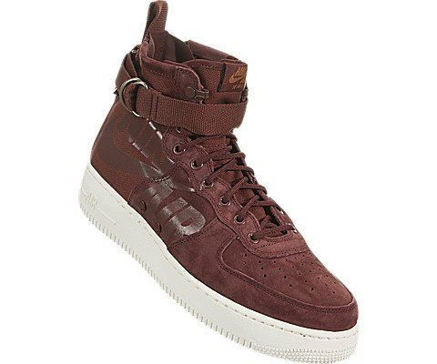 Nike SF Air Force 1 Mid Men's Shoe - Red Image 5