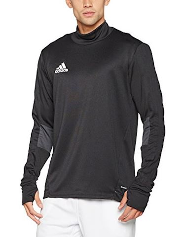 adidas Tiro 17 Training Top Black Dark Grey White Image
