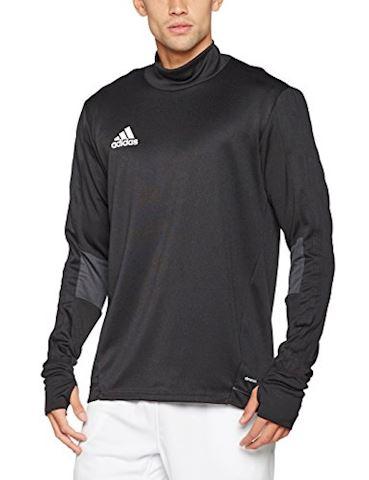 adidas Tiro 17 Training Top Black Dark Grey White Image