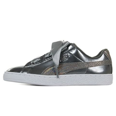 sports shoes 2e82e 12b0c Puma BASKET HEART LUNAR LUX JR girls's Shoes (Trainers) in Silver