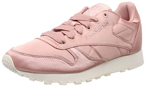 b4b74ffc5c0 Reebok Classic CLASSIC LEATHER SATIN women s Shoes (Trainers) in Pink Image