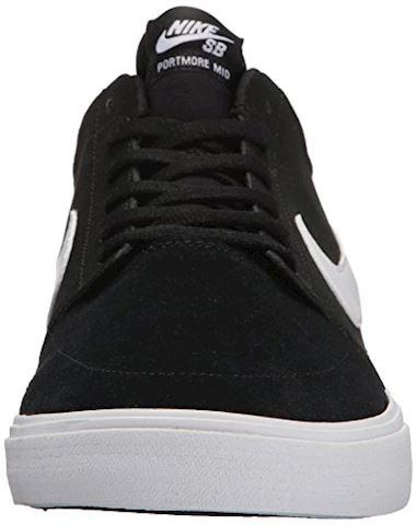 Nike SB Solarsoft Portmore II Mid Men's Skateboarding Shoe - Black Image 4