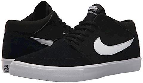 Nike SB Solarsoft Portmore II Mid Men's Skateboarding Shoe - Black Image 6
