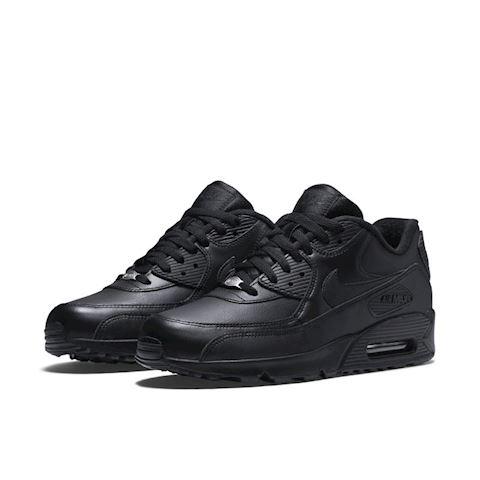 Nike Air Max 90 Leather Men's Shoe - Black Image 2