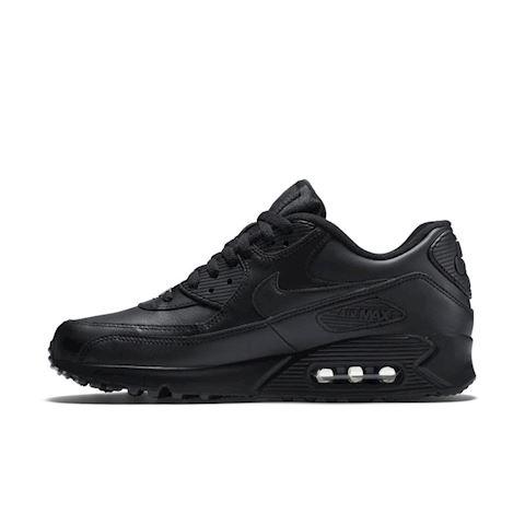 Nike Air Max 90 Leather Men's Shoe - Black Image 3