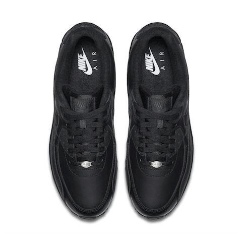 Nike Air Max 90 Leather Men's Shoe - Black Image 4