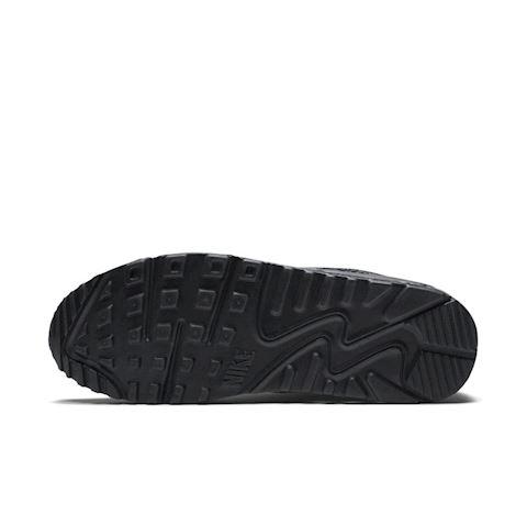 Nike Air Max 90 Leather Men's Shoe - Black Image 5
