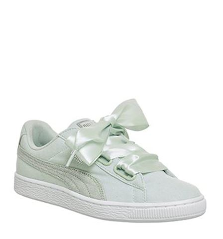 the latest b9985 40079 Puma BASKET HEART CANVAS W'S women's Shoes (Trainers) in Blue