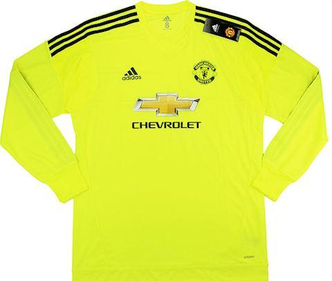 adidas Manchester United Mens LS Goalkeeper Player Issue Away European Shirt 2015/16 Image