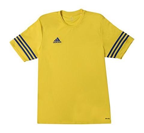 adidas Entrada 14 SS Jersey Yellow Bold Blue